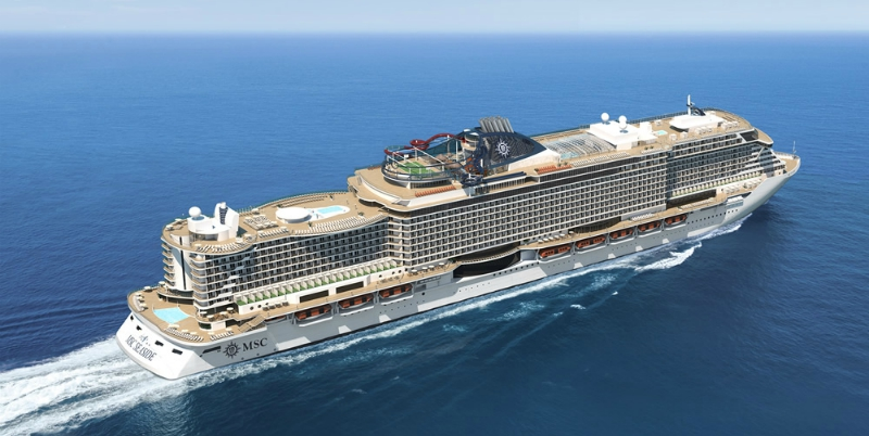 MSC Seaside, the largest sea giant ever built in Italy, has been delivered