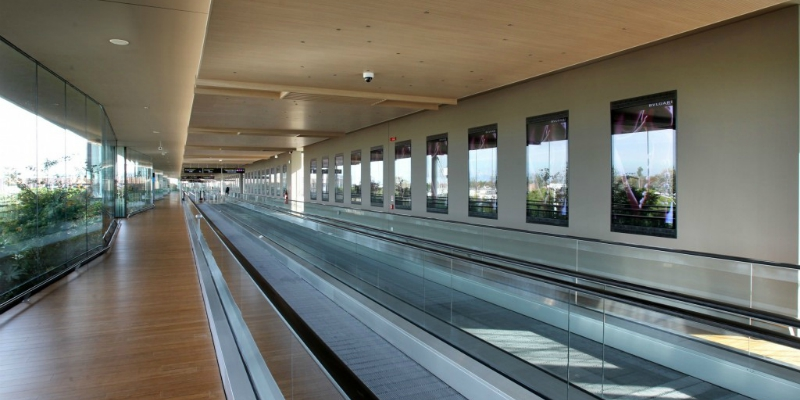 The new Moving Walkway of Marco Polo Airport in Venice achieves the LEED Gold certification