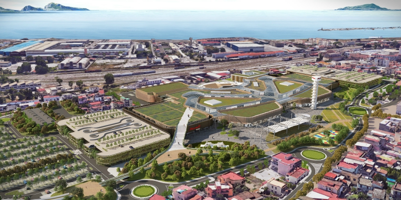 Maximall Pompeii: presentation of the New Tourist-Commercial Hub project overlooking the gulf of Naples