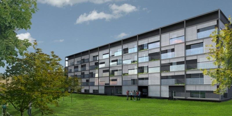 Beginning of the works for the realization of the New Student House in Ca' Foscari University Campus in Mestre (Venice)