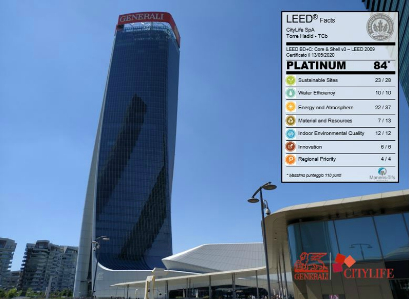 """Generali Tower"" has just achieved the LEED Platinum Certification"