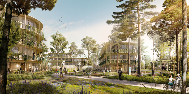 The concept proposal from UNStudio and UNSense for a new intergenerational health themed urban district in Milan has been selected by Unipol for further design development